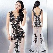 2017 new sexy dress dress tuxedo club on loading long backless dress wholesale Exhibition