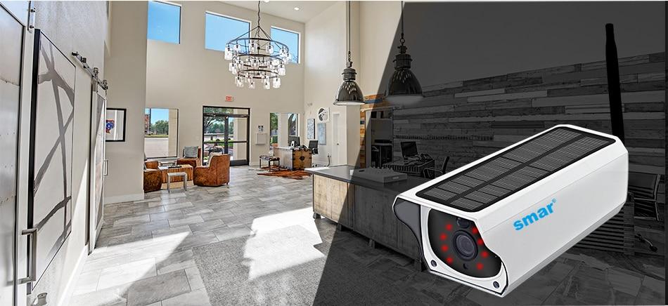 Smar Newest Solar Powered Outdoor Security Camera HD 1080P Wireless IP Camera IR Night Vision Waterproof Surveillance Camera (11)