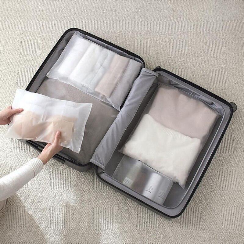 Fashion Transparent Cosmetic Bag Portable Makeup Bag Organizer Waterproof Storage Pouch Makeup Bag Women Travel Toiletry Kit