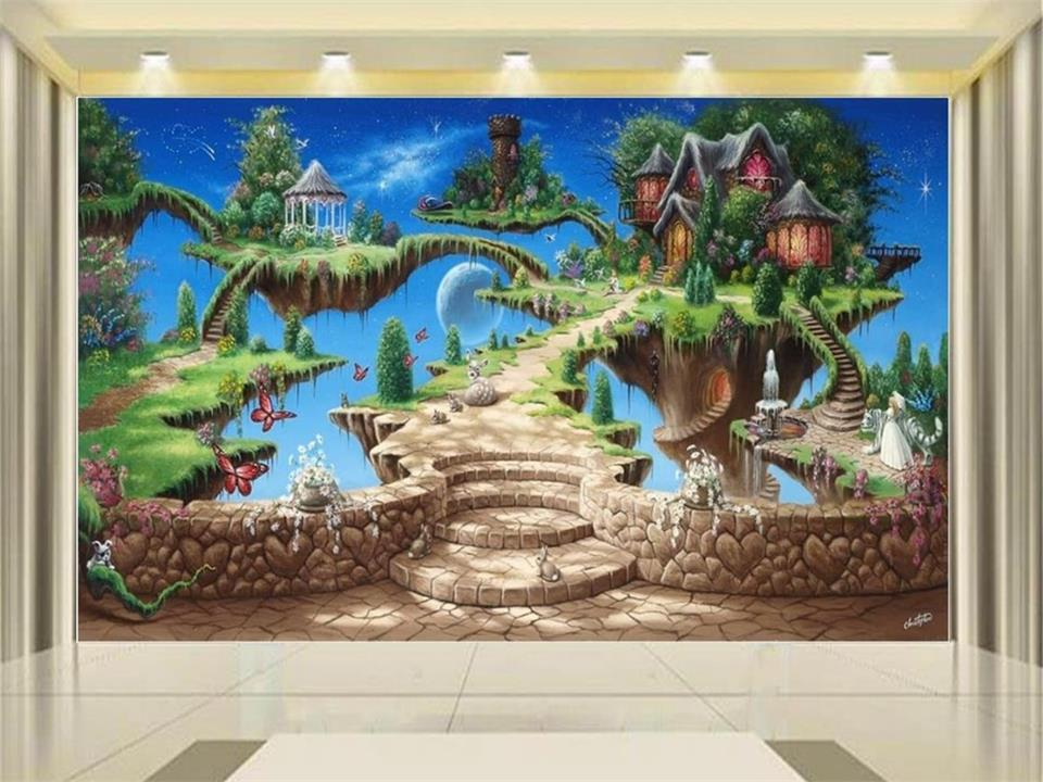 custom 3d photo wallpaper living room mural animal magic castle painting picture 3d wall non-woven murals wallpaper for walls 3d