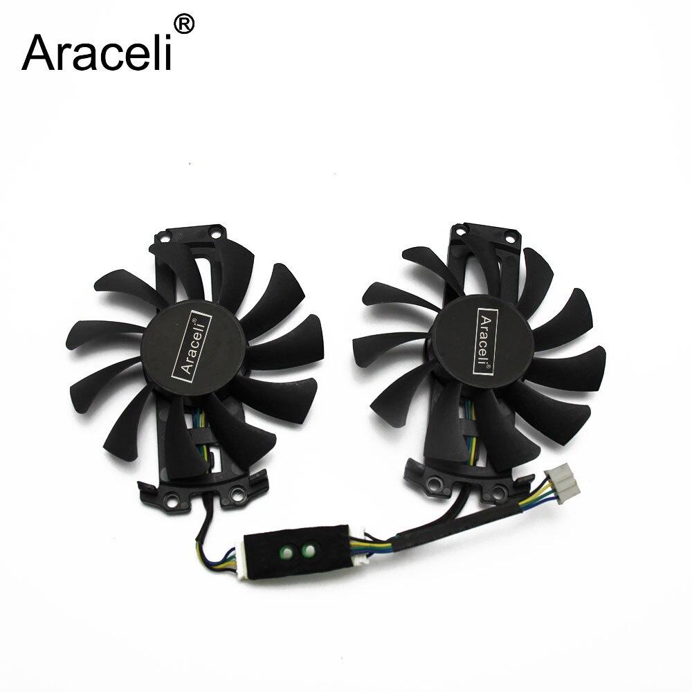 GA81S2U 12V 0.38A 75mm 4Pin Apistek GTX 960 Cooler Fan For ZOTAC GTX960 4G PCI-EDC Graphics Card Fan