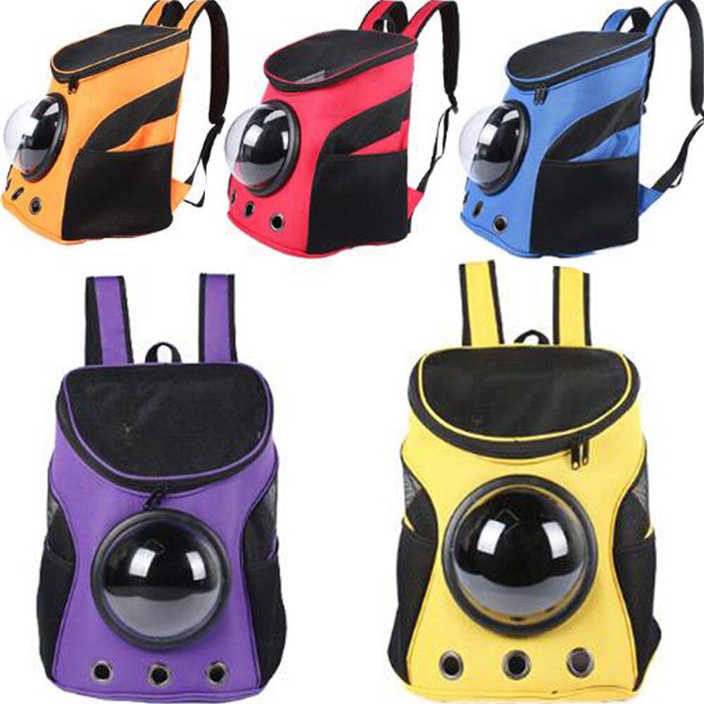 Nouveau réglable animal de compagnie chien chat espace Capsule animal de compagnie voyage en plein air transportant respirant épaule sac à dos Portable Net sac produits pour animaux de compagnie