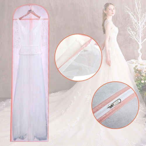 1 шт. свадебное длинное платье чехол сумка для хранения для невесты свадебное платье сетчатый складной органайзер для одежды