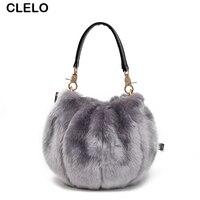 CLELO 2017 Neue Frauen Winter Fashion Push Taschen Weibliches Niedlichen Kleinen Schulter Umhängetasche Damen Elegante Handtaschen Bolsos Mujer