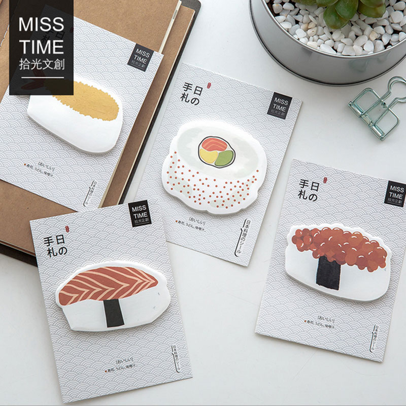 2X cute Delicious sushi N times plan Sticky Notes Post Memo Pad kawaii stationery School Supplies Planner Stickers Paper