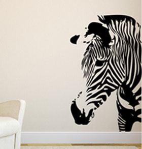 Wholesale supply ebay source best-selling Europe and the United States animal wall stick A0164 zebra design