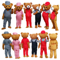 Brand New Design Adult Teddy Bear Mascot Costume Adult Teddy Bear Halloween Christmas Cosplay Mascot Costume
