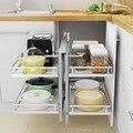 Para Colgar En La rueda organizadora Cocina Rangement Keuken accesorios Cucina despensa Organizador Cocina armario cesta