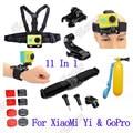 Xiaomi yi accessories set action camera xiaomi yi set bobber stick helmet strap Adapter mount For GoPro & Sport Camera xiaomi yi