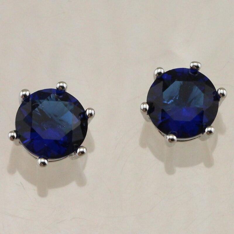 ec194ade857d Simple Crazy Niza Londres bluetopaz Pendientes de broche rodio plateado  regalo de joyería para las mujeres eb019j