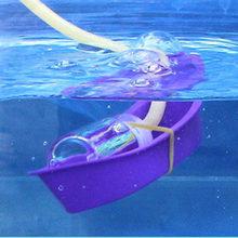 Barco de salvamento experimental caseiro diversão física ciência experimento criança crianças estudantes tecnologia equipamento diy material