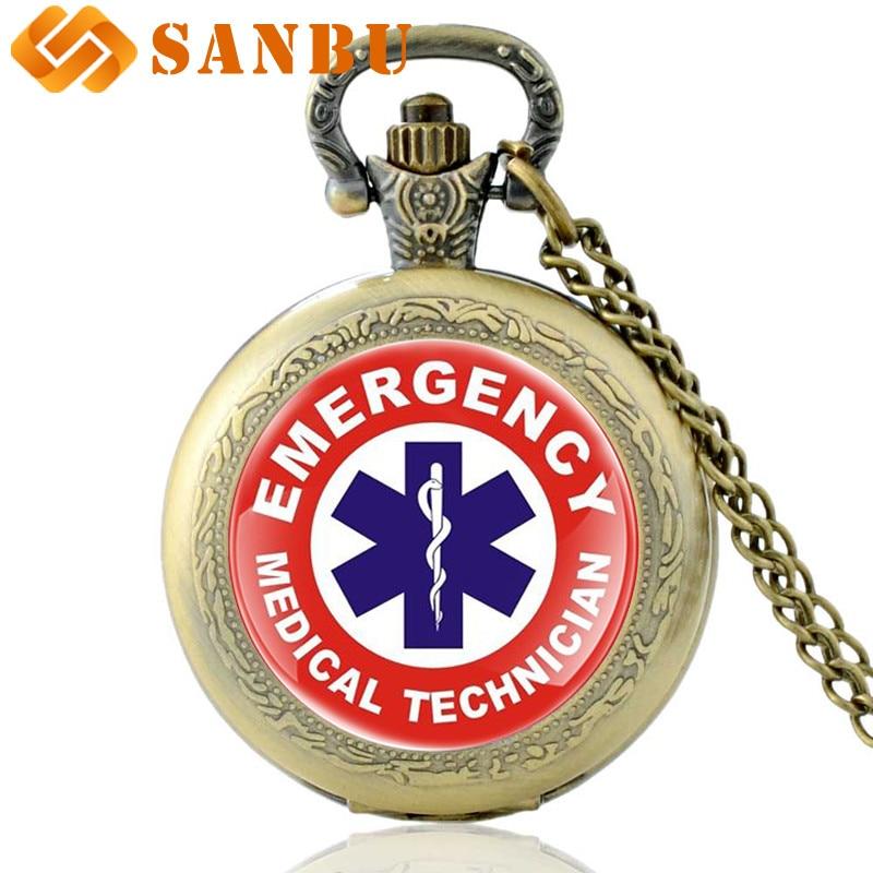 New Fashion EMT Emergency Medical Technician Quartz Pocket Watch