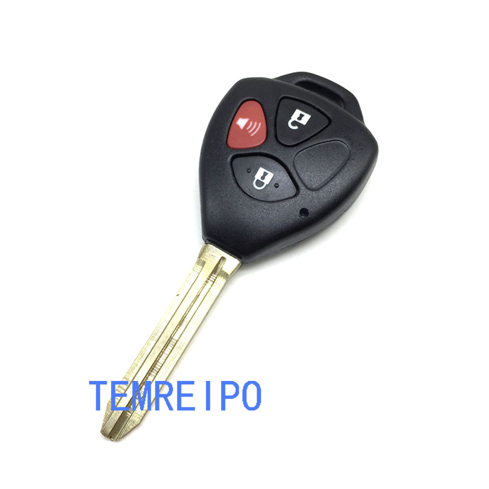 3 Buttons Remote Key Fob Case For Toyota RAV4 Yaris Venza Matrix Scion