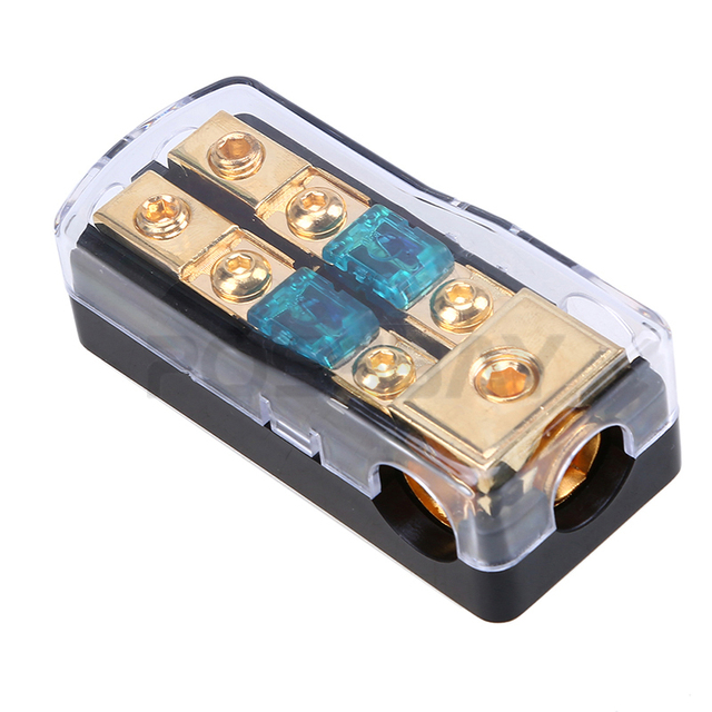 Cheap POSSBAY 1 Pcs Car Audio Fuseholder Amplifier 30A/60A/80A/100A/150A 1 In 2 Ways Out Power Fuse Holder Fuse Box Car Accessories