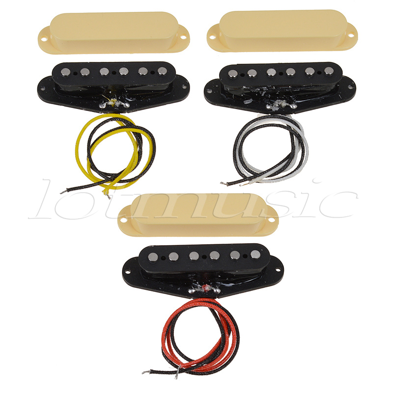 Vintage Single Coil Pickup for Electric Guitar Parts Accessories Alnico 5 Neck Middle Bridge Set Black Cream Cover guitar pickup humbucker gold chrome black double coil pickups electric guitar parts accessories bridge neck set
