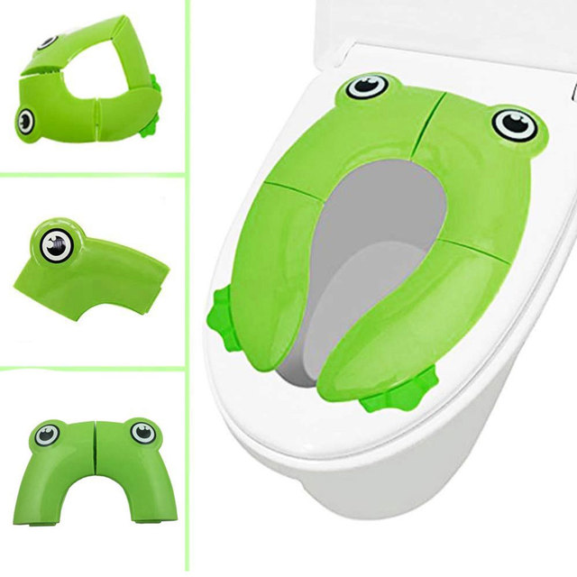 Baby Travel Folding Potty Seat toddler portable Toilet Training seat children urinal cushion children pot chair pad /mat 4