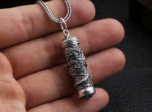 Image 3 - Yeni 100% 925 gümüş ejderha kolye tibet Gau kutusu ejderha budist namaz kutusu kolye