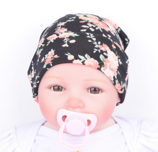 5PCS/lot Wholesale Baby Girl Toddler Infant Children Flower Hat Cotton Floral Hat Cap Newborn Hats Baby Beanies Cap Hospital Hat
