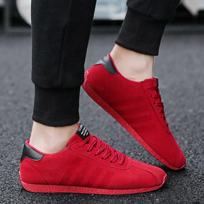 Chaussure Hommes gris Homme Chaussures Lumière Rouge Style Casual Couleur Hombre Turnschuhe Noir Mode De Bande Size39 44 rouge Zapatos AT1xqXwxP