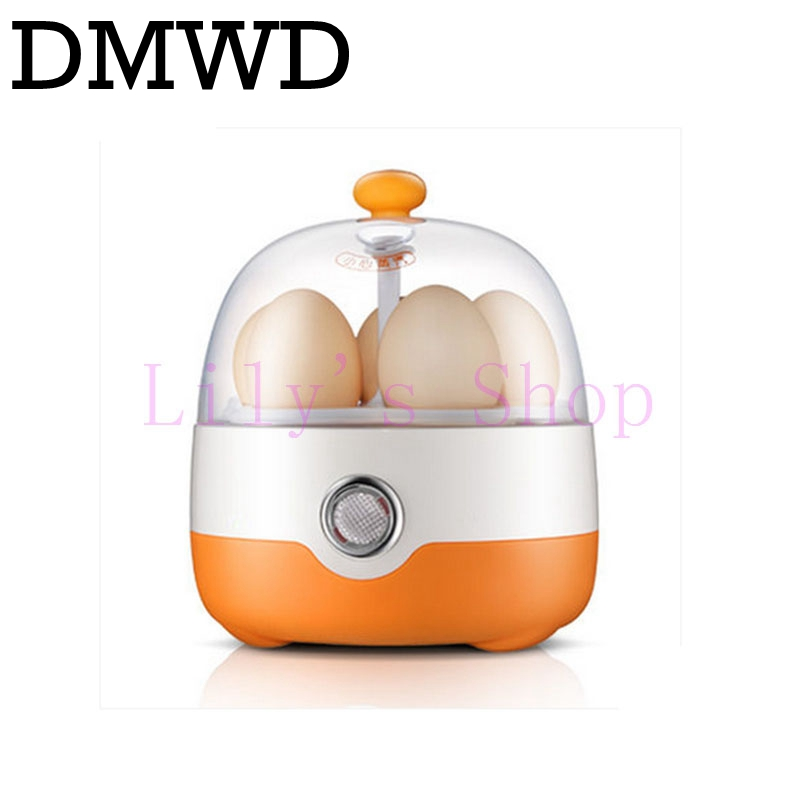DMWD Eggs Device Multifunction MINI Electric Egg Cooker Boiler Steamer Automatic Power-off boil Poacher Kitchen Cooking Tools EU 220v 600w 1 2l portable multi cooker mini electric hot pot stainless steel inner electric cooker with steam lattice for students