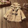 Casaco de inverno Quente Meninos Meninas Sólidos Crianças Outerwear Jaqueta Com Capuz Crianças Roupas de Bebê Casacos Tops Para Meninos Das Meninas