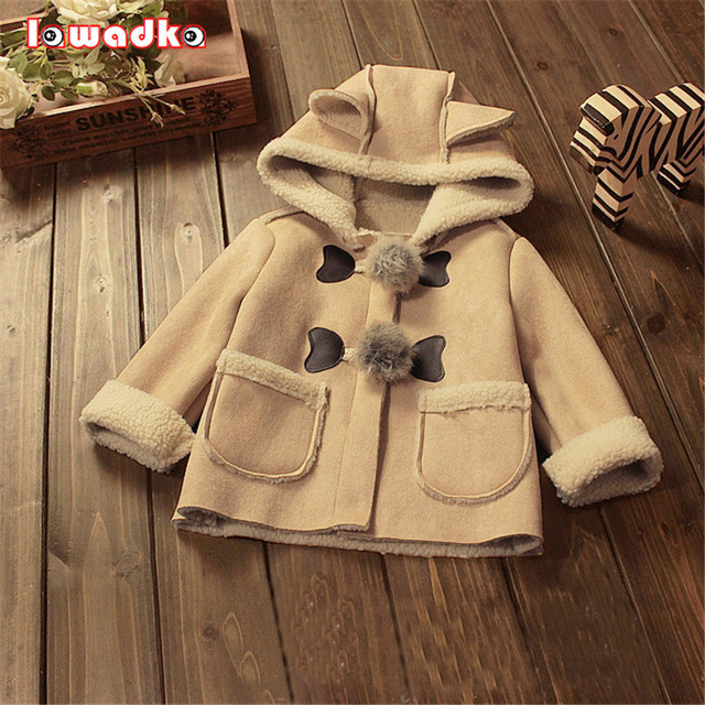 Winter Warm Boys Girls Coat Solid Kids Jacket Outerwear Hooded Children Clothing Baby Tops  Coats For Girls Boys