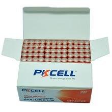PKCELL – piles alcalines 3A AAA 1.5V, 60 pièces, LR03 AM4, piles sèches pour jouets, lampe de poche Walkaman, thermogun électronique