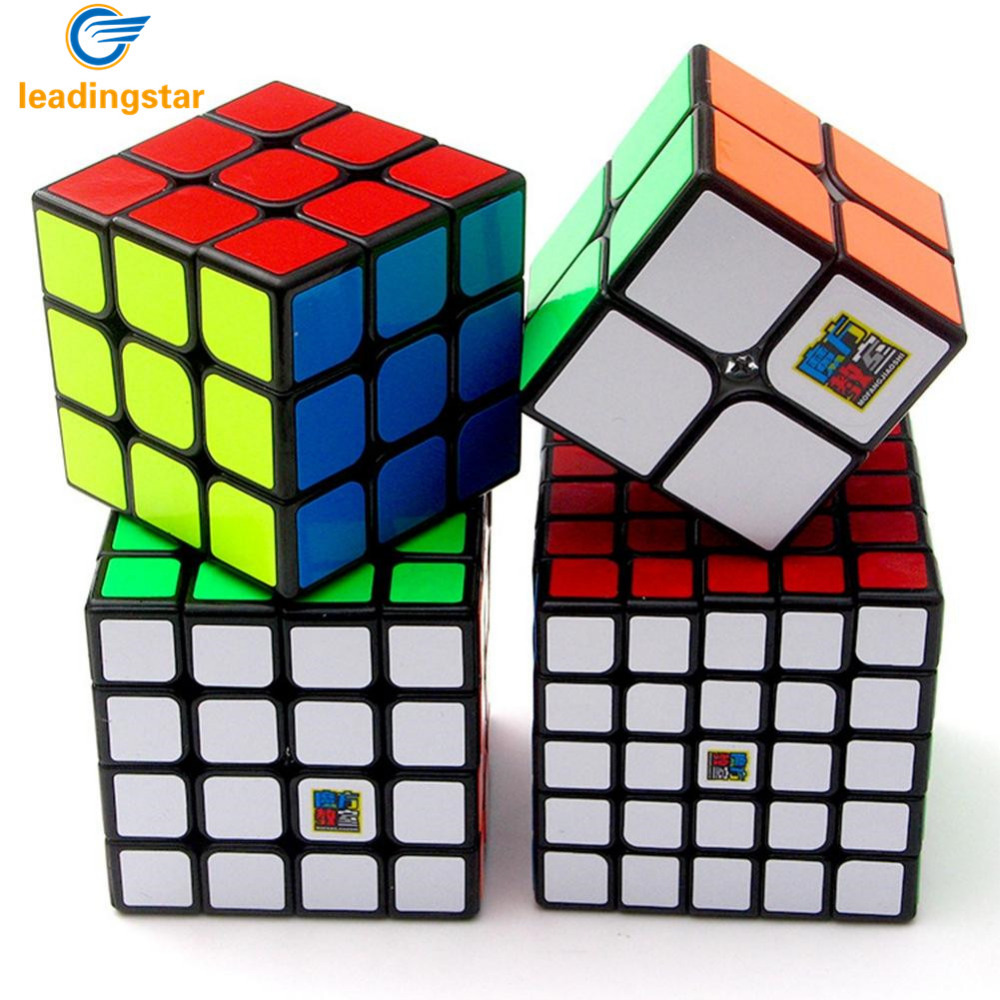 LeadingStar 4 Pcs Brain Teaser Magic Puzzle Cube Stickers Speed Cubes oyuncak Problem Solve Fidget Cube Gift Set Black ZK45 diy 3x3x3 brain teaser magic iq cube complete kit black