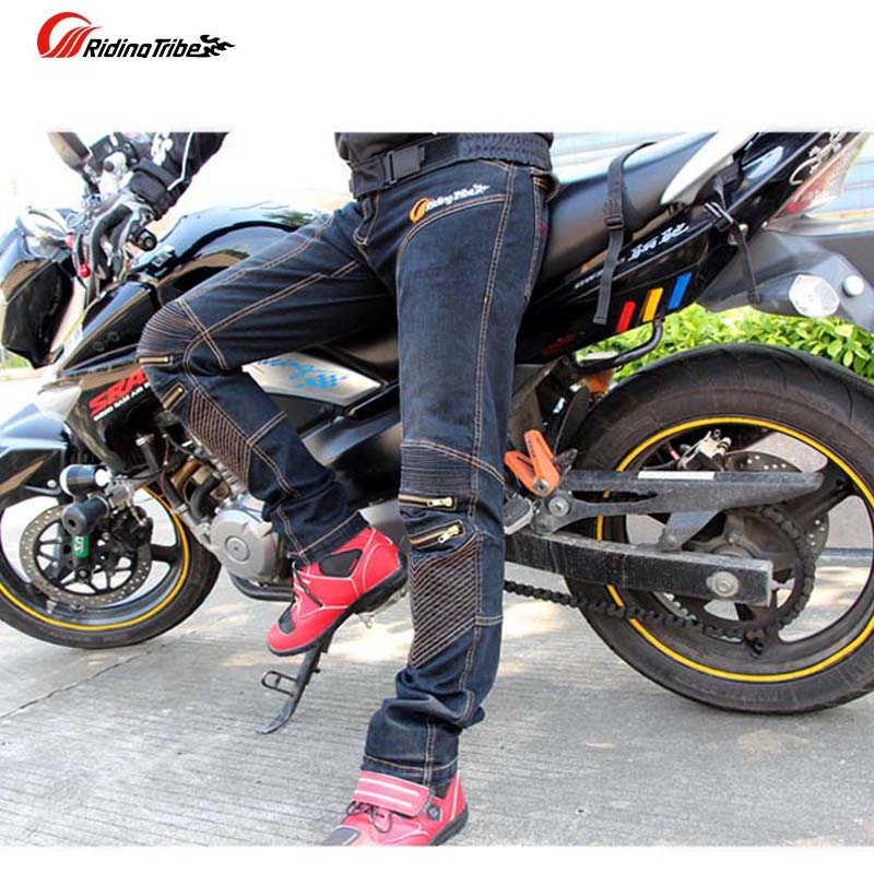 2018 Summer New Riding Tribe Motorcycle Jeans man Motorbike Pants Cross trousers Moto Racing Pant made of cotton Elastic fibers