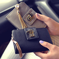 Women Leather Wallet Short Tassel Folding Hasp Lady Coin Purse Fashion Card Holder Clutch Wallets Carteira Feminina Money Bag