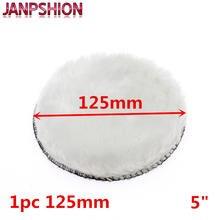 Janpshion almofada de polimento 125mm, para carro, 5