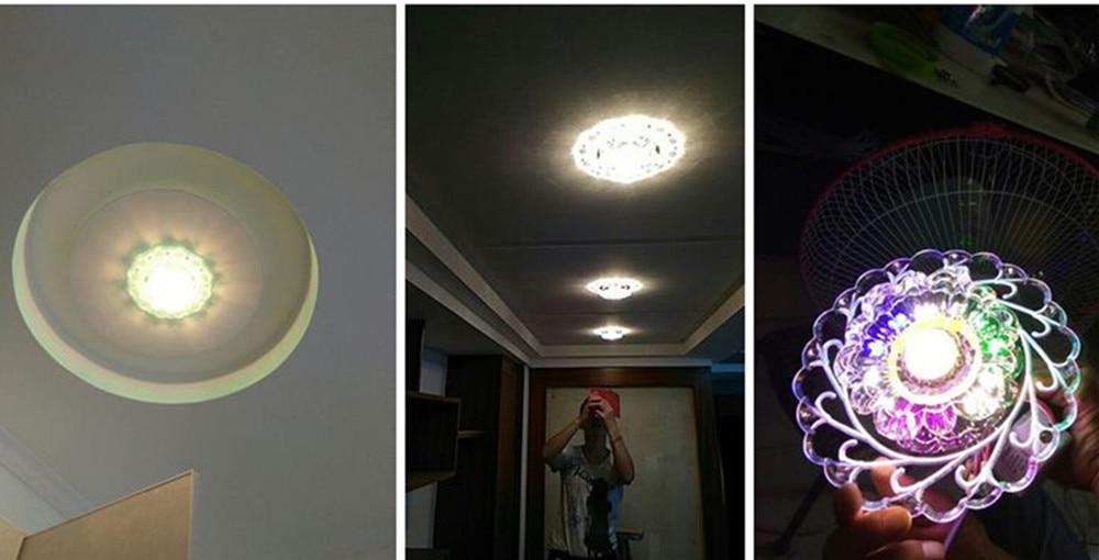HTB1Rm8fXcfrK1Rjy1Xdq6yemFXac Modern LED Crystal Ceiling Light Circular Mini Ceiling Lamp Luminarias Rotunda Light For Living Room Aisle Corridor Kitchen