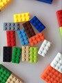 Brinquedo do bebê 12 cores 120 pcs bloco de tijolos 2x4 * diy enlighten compatível com monta partículas aprendizagem clássico brinquedos