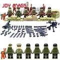 Segunda Guerra Mundial Set EUA Commandos Irmãos Equipe Marine Corps Battlefield RPG Building Blocks Brinquedos Compatível Com