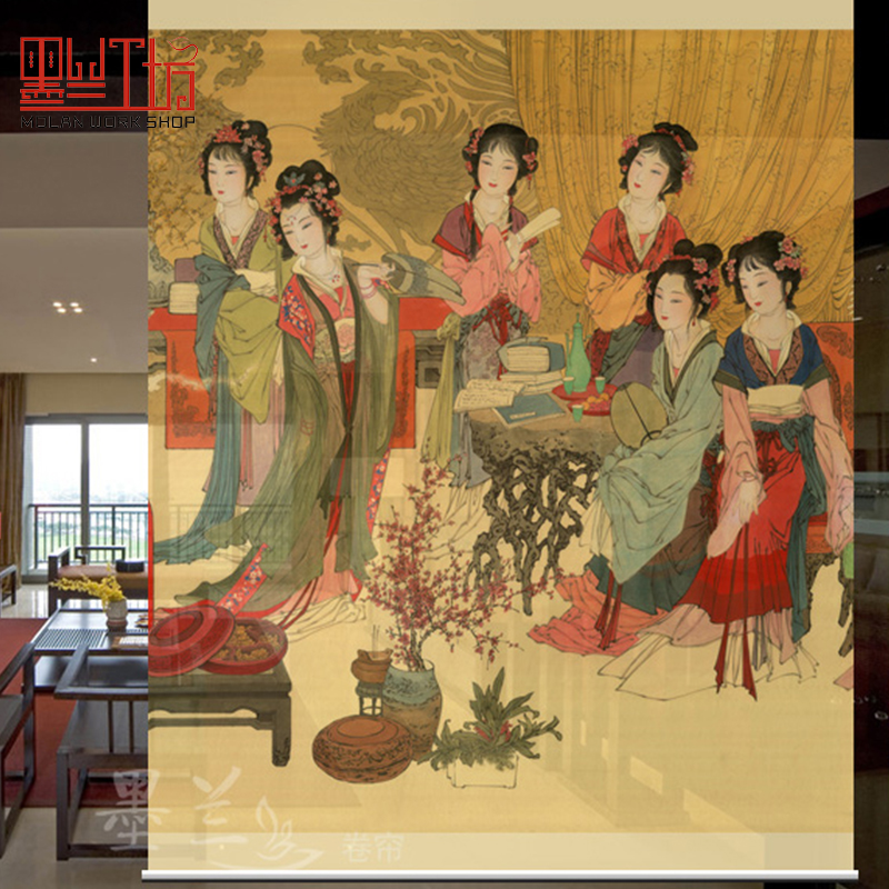 150cmx200cm Biombo Living Room Hanging Curtain Room Divide Screen Patterns Designs Window Partition Curtain Translucent Soft