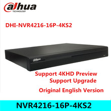 Dahua 4K NVR NVR4216-16P-4KS2 With 16CH 16 PoE Port Support 4K H.265 IP Camera for Profession Security System