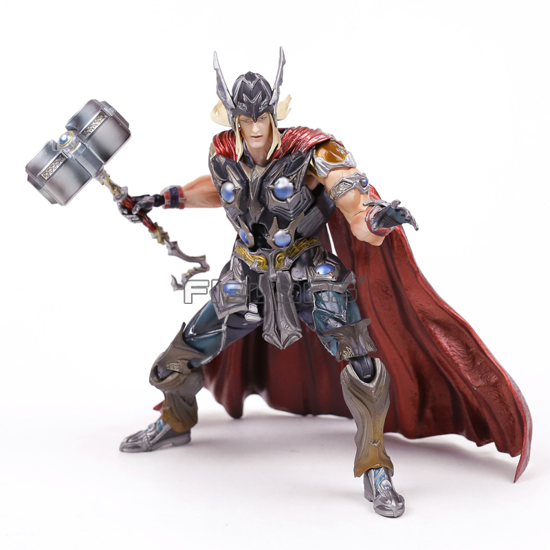 Play Arts KAI Marvel Avengers Thor PVC Action Figure Collectible Model Toy fire toy marvel deadpool pvc action figure collectible model toy 10 27cm mvfg363