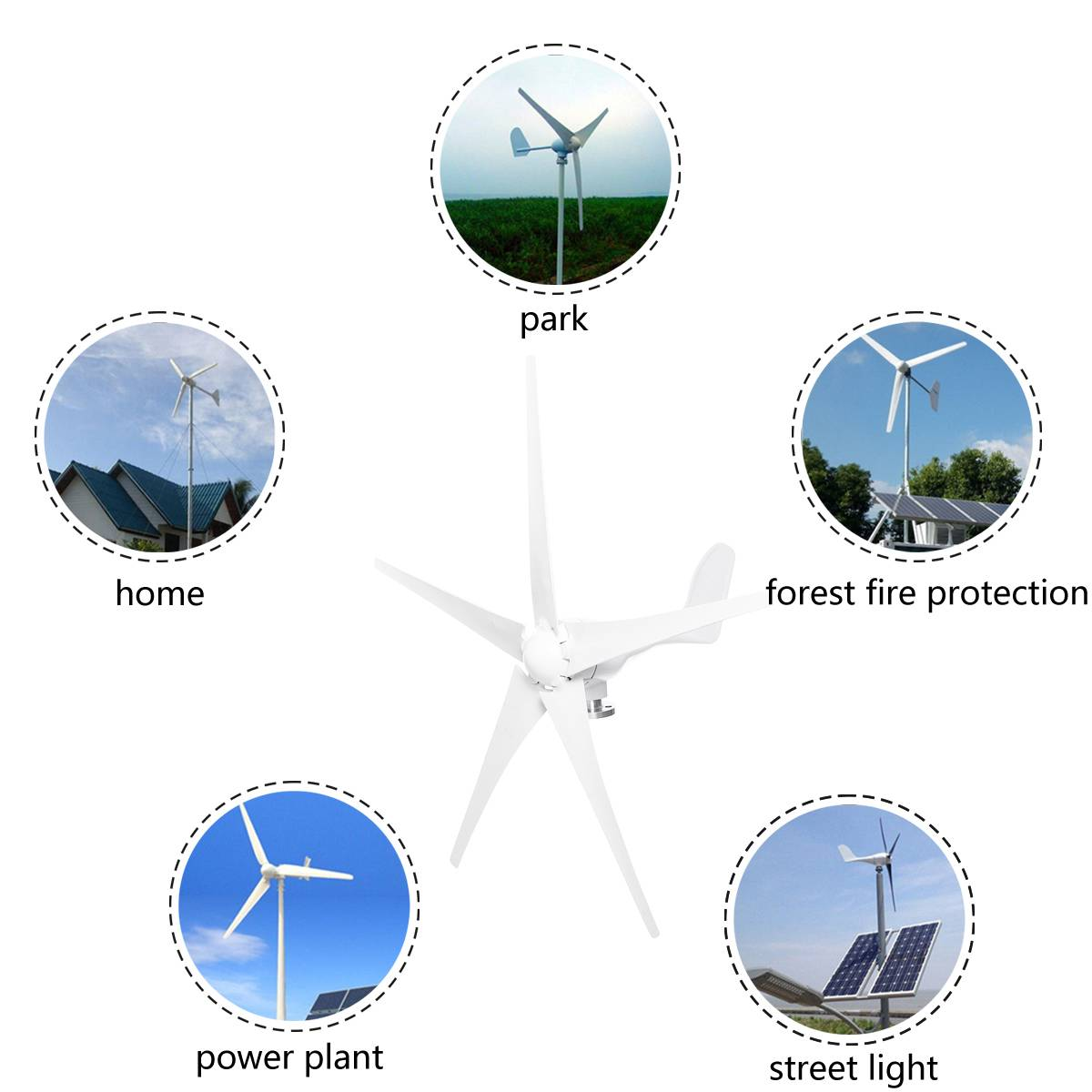 de turbinas eólicas 3 5 lâminas de