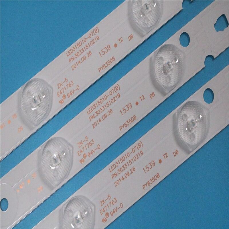 LED315D10-07(B) 30331510219 1set=3pcs Led Backlight For LE32B310N 32E3000b 32E3000C LC320DXJ