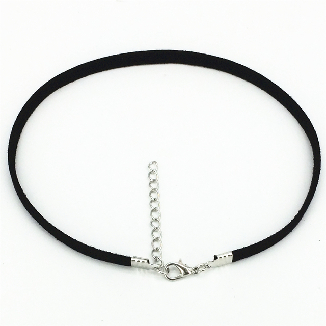 100 Pcs Hot new torques Bijoux Plain Black Velvet Ribbon Collares Anime Maxi Chokers Necklace jewelry accessories women 2016