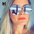 Fashion Women Cat eye Sunglasses Brand Designer Luxury Hollow Out Pink Metal Frame Summer Style UV400