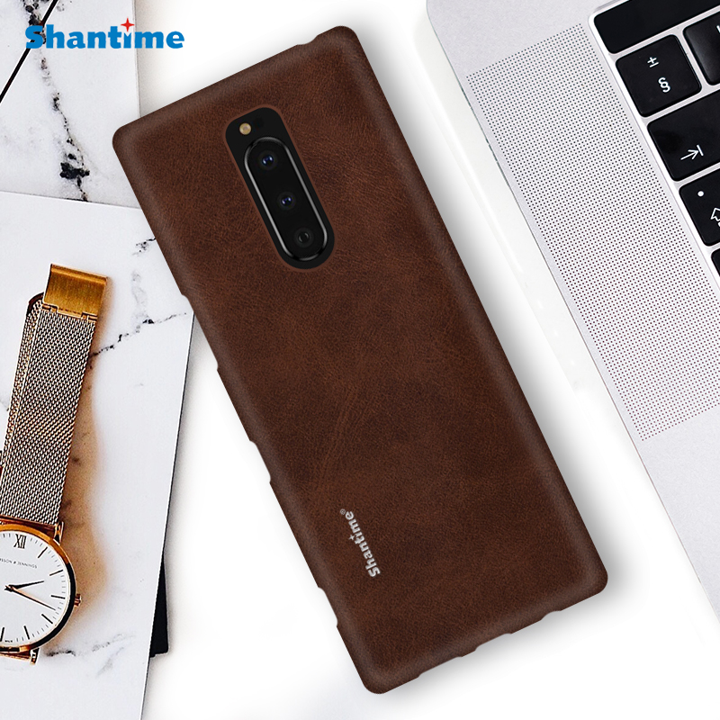 Hot Sell <font><b>Case</b></font> Luxury Vintage PU Leather <font><b>Case</b></font> For Sony <font><b>Xperia</b></font> <font><b>1</b></font> Phone <font><b>Case</b></font> For Sony <font><b>Xperia</b></font> <font><b>1</b></font> Business Style Cover image