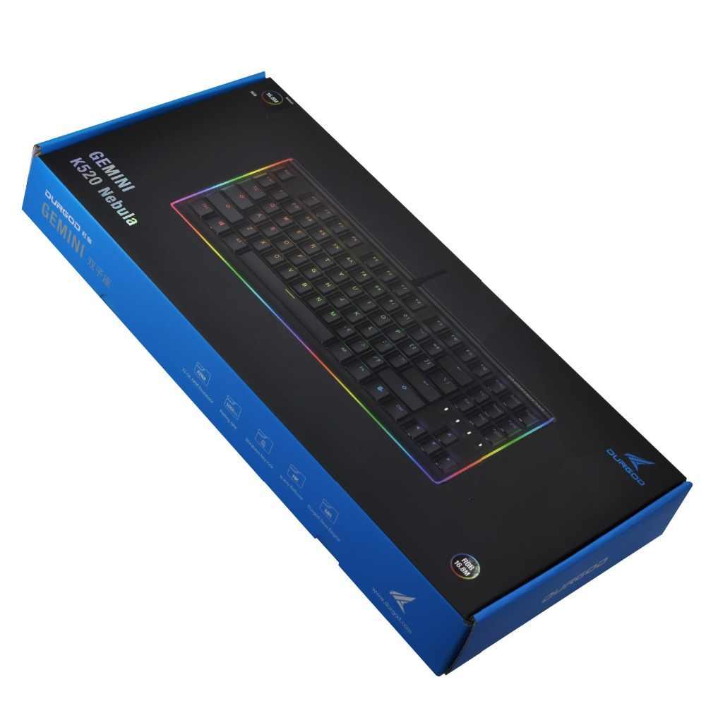 7877c613ca9 ... DURGOD Gaming Mechanical Keyboard 87 Keys RGB LED Illuminated Backlit  Flowing Light Edge Gamer Keyboard Cherry