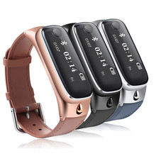 2016ใหม่ล่าสุดคุณภาพที่เหนือกว่าm6 smart watchสร้อยข้อมือกีฬาs martbandสายรัดข้อมือ/บลูทูธชุดหูฟังหูฟังสำหรับios a ndroid o25