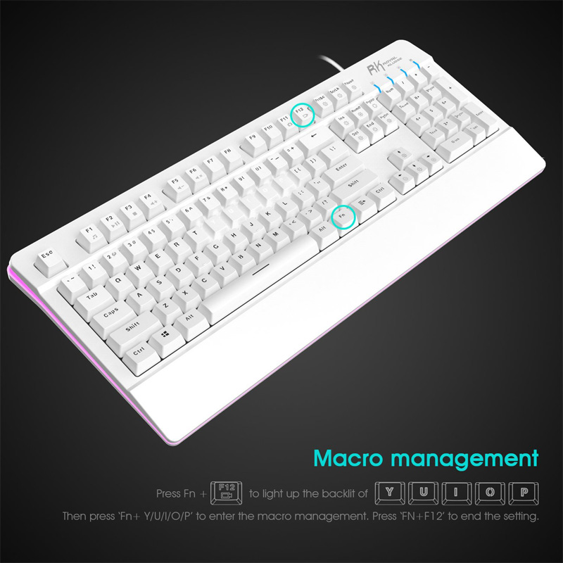 Full Size Gaming Mechanical Keyboard Anti-ghosting Keys Design RGB Backlit Teclado Gamer For Computer profession gamer CS LOL  professional usb wired gaming keyboard laser carving backlight rgb game for teclado dota cs go lol computer gamer high quality