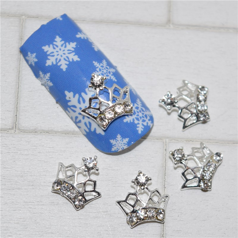 10psc New Gorgeous crown 3D Nail Art Decorations,Alloy Nail Charms,Nails Rhinestones  Nail Supplies #241 10psc new eiffel tower 3d nail art decorations alloy nail charms nails rhinestones nail supplies 049