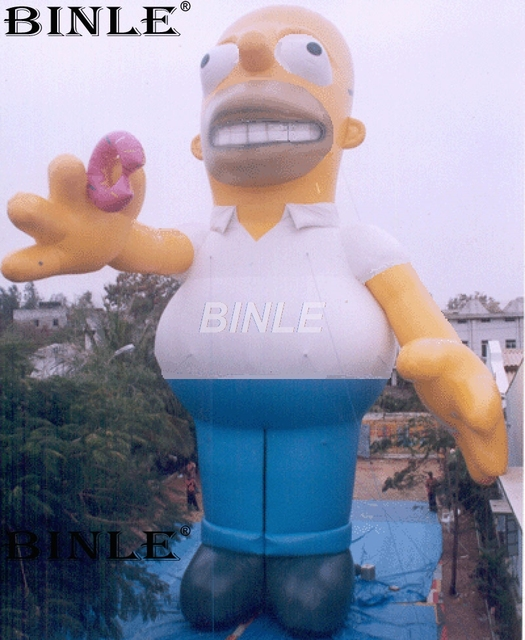 western large christmas decorations inflatable homer santa for outdoor event