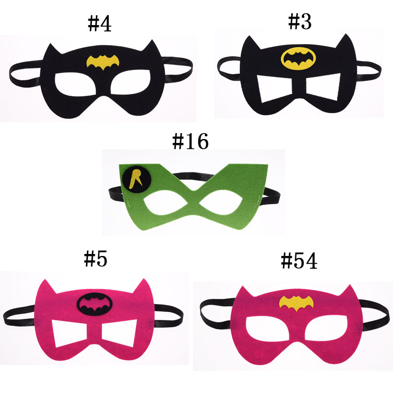 Batman BatGirl Superhero mask Cosplay Superman Avengers Thor Halloween Christmas kids Party Masquerade Costumes Masks