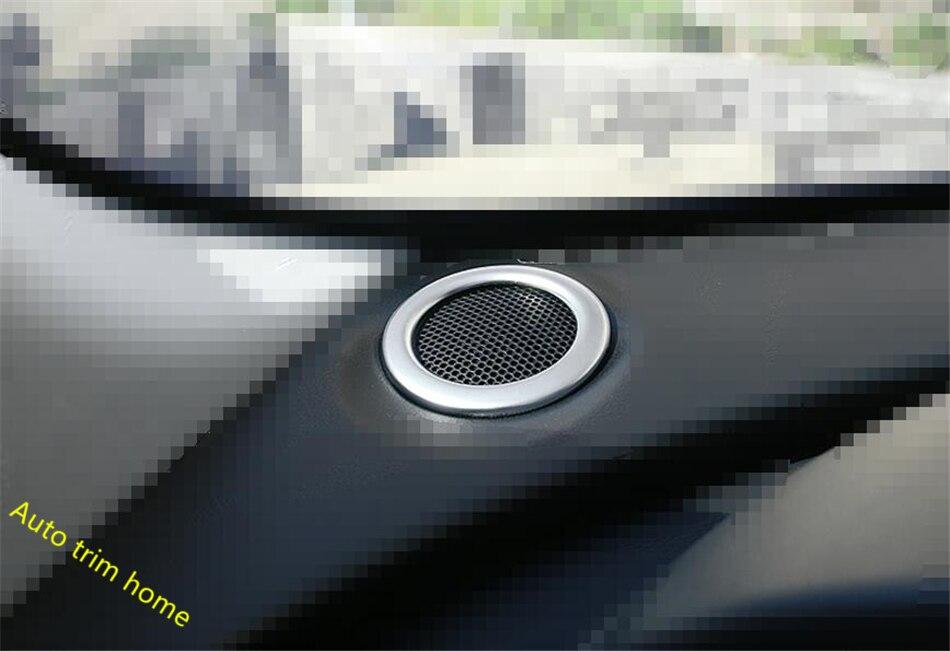 Lapetus Interior ! 2 Model For Jaguar F-Pace 2017 2018 Front Head Speaker Audio Protector Decoration Molding Cover Trim 2 Piece