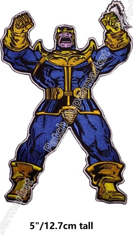 """5 """"grand Thanos Avengers Infinity War fer sur patchs Marvel bande dessinée film série TV brodé emblème applique badge vêtements-in Patches à coudre from Maison & Animalerie    1"""
